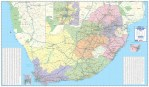 Businessman's Wall Map South Africa