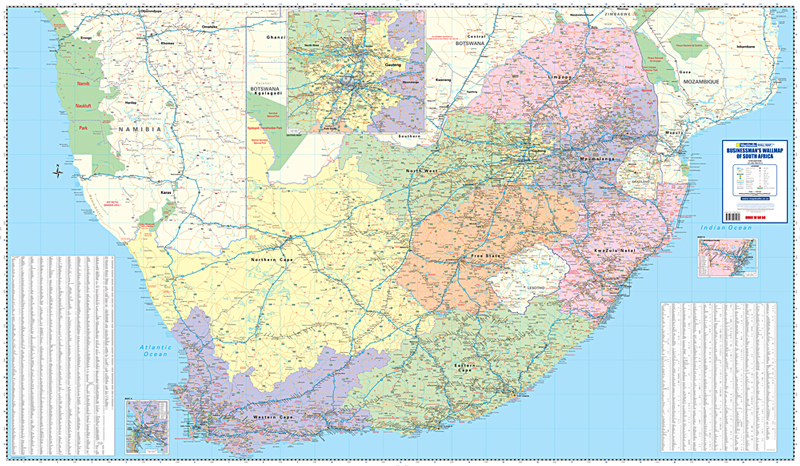 Businessmans wall map south africa mapstudio businessmans wall map south africa gumiabroncs Image collections