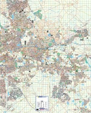 Gauteng East Rand Wall Map