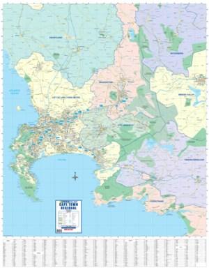 Cape Town Regional Wall Map