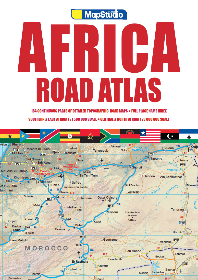 East Africa Road Map.Africa Road Atlas Coverage Includes All African Countries