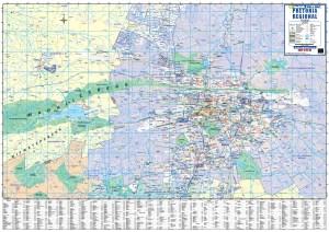 Pretoria Regional Wall Map