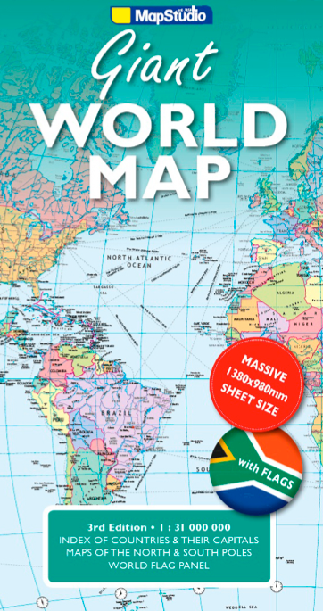 Giant World Road Map is a folded map of the world -- MapStudio on