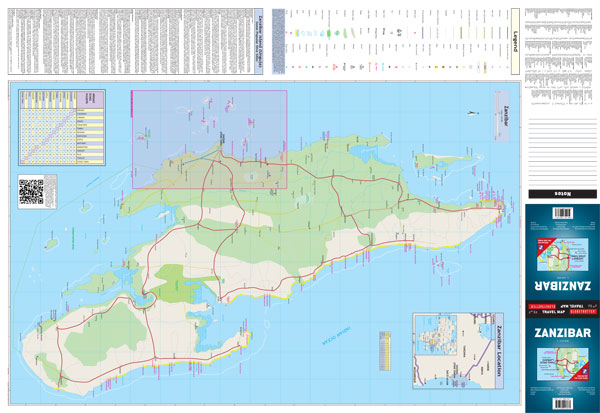 Zanzibar globetrotter map zanzibar globetrotter map front gumiabroncs Choice Image