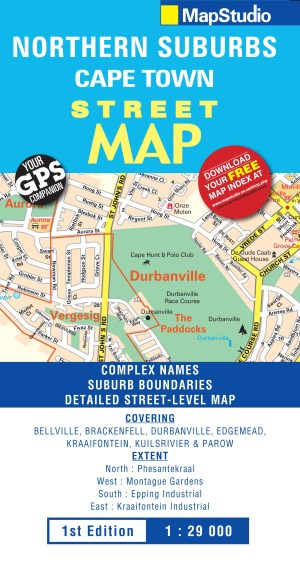 Northern Suburbs Cape Town Street Map -ePDF