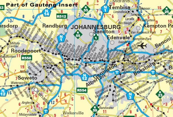 Businessmans Wall Map South Africa MapStudio
