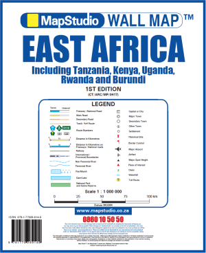 East Africa Wall Map