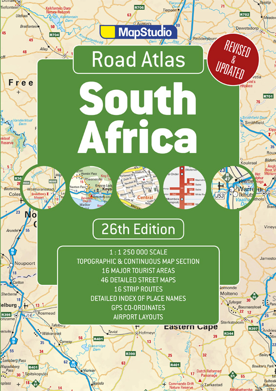 Road Atlas South Africa - a detailed map of South Africa - 26th Edition