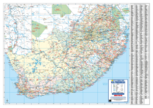 South Africa Provincial Wall Map