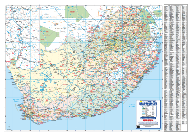 South Africa Provincial Wall Map R1500.00