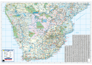 SOUTHERN AFRICA WALL MAP