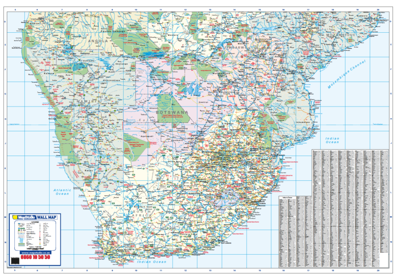Southern Africa Wall Map R1500.00