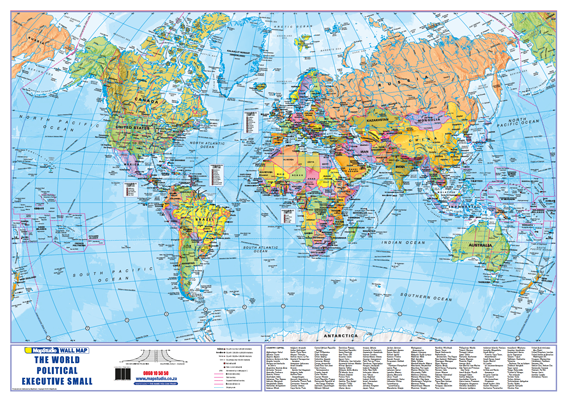 World Political Wall Map - Detailed wall map of the World