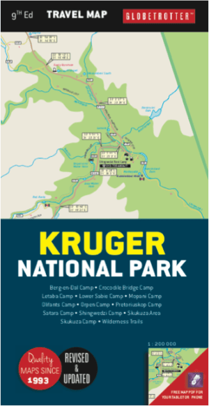 Globetrotter Travel Map Kruger National Park