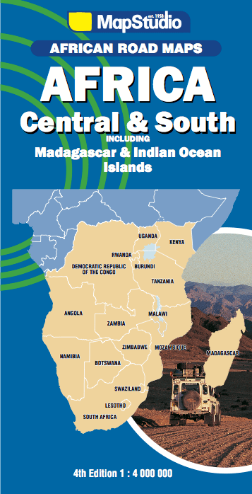 Botswana South Africa Map.Central And South Africa Road Map Namibia Botswana Zambia