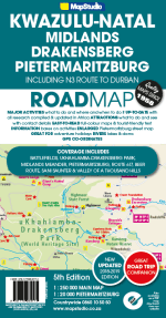 ROAD MAP - KZN, PMB & DRAKENSBERG WITH GPS