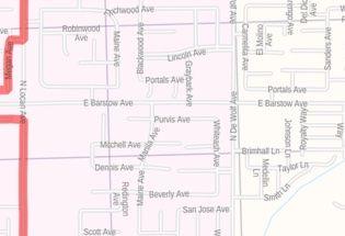 Fresno CA Zip Code Map
