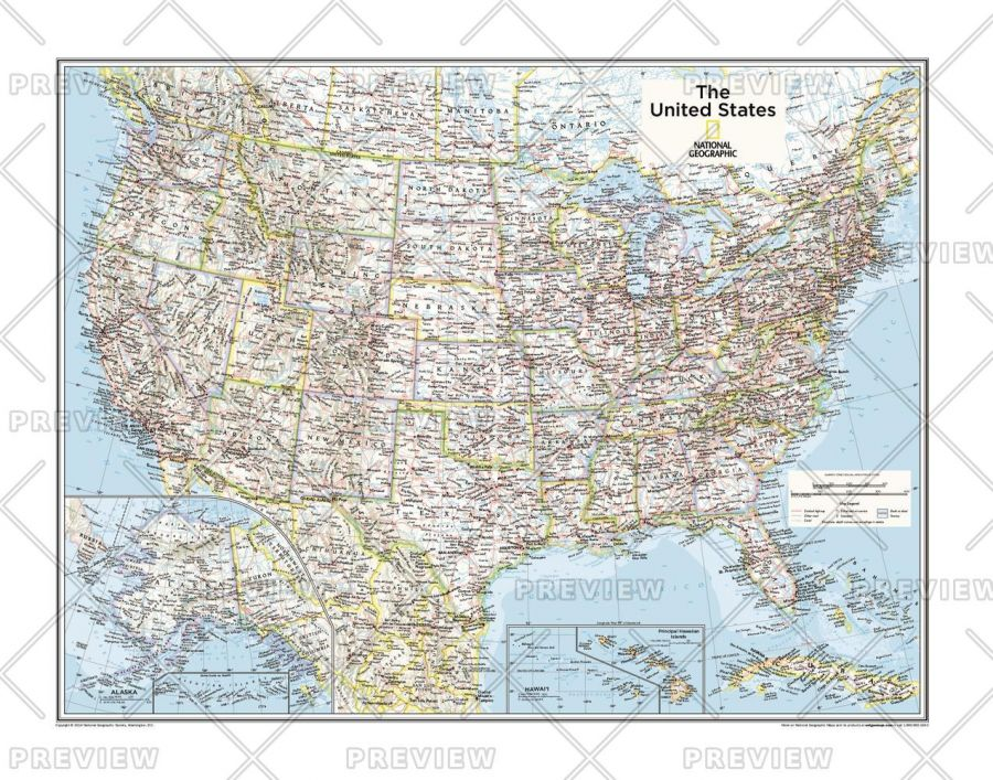 A map is defined as a representation, u. Us Political Map