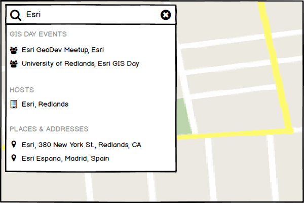Unified Search – UI Patterns for Map Applications