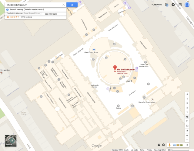 British Museum on Google Maps