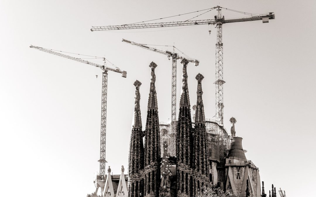 Architectural models aiding the completion of the Sagrada Familia