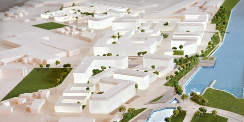Dominion Bridge Model - Aerial view