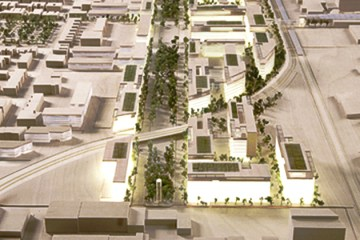 Outremont Campus Model - Side view