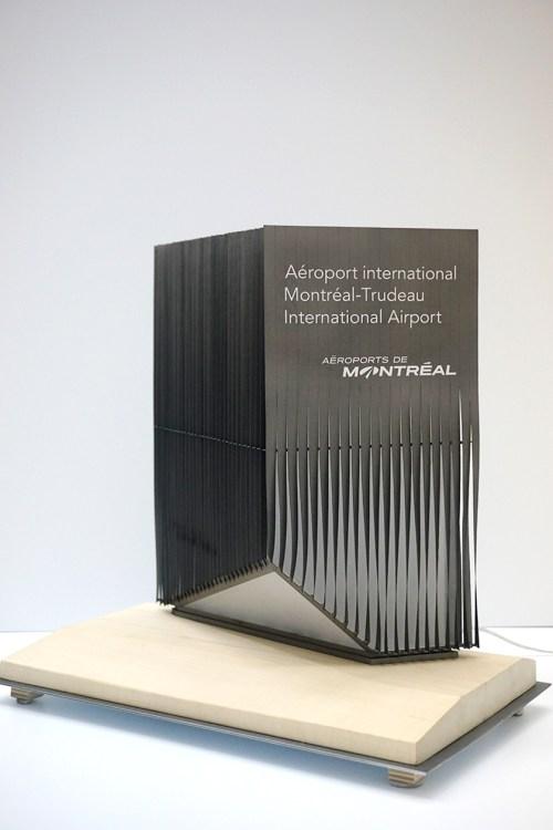 Maquette prototype du signal routier de l'Aéroport International de Montréal - Vue d'ensemble