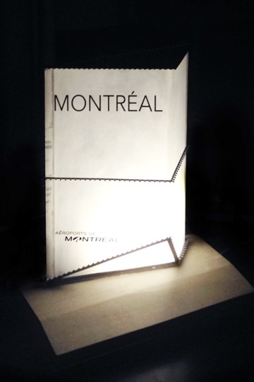 Maquette prototype du signal routier de l'Aéroport International de Montréal