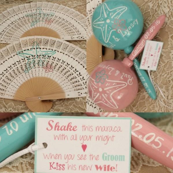 Wedding Favor Fans Personalized