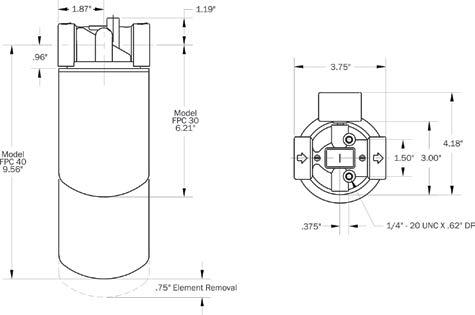 30 Series Spin-On Filter Head : Maradyne Corporation