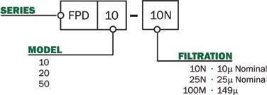 FPD Series In-Line Filter Medium Pressure : Maradyne
