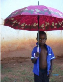Umbrellas are essential during the rain season.