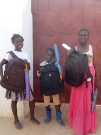 Ready for school with the new school material (bags and some stationary items)