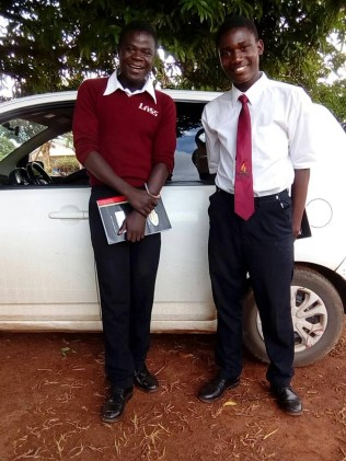 Witness and Ramos at Lunjika secondary school