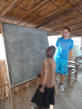 Mauro at the shelter school