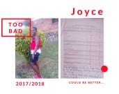 Joyce's school report