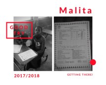 Malita's school report