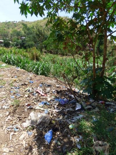 Plastic left overs everywhere