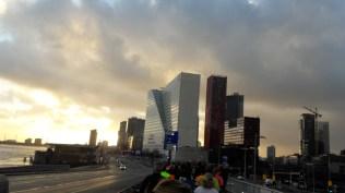 View of Rotterdam along the run