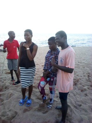 Wit and his frends at Chikale bay