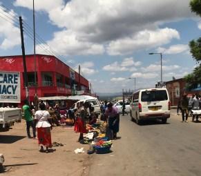 Walking around the town in Mzuzu