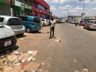 Dirt in the streets of Mzuzu