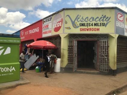 Some shops around Mzuzu