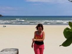 Laura at Kande beach