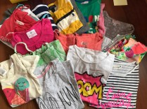 The clothes we sent