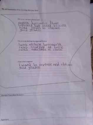 Katie's plan for school