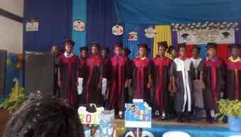 Joyce's graduation ceremony