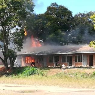 Mzuzu office on fire