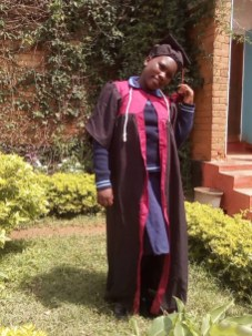 Joyce on her graduation day from primary